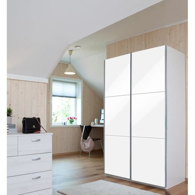 cordoba armoire dressing 180x60x200 cm blanc achat vente armoire de chambre cordoba armoire. Black Bedroom Furniture Sets. Home Design Ideas