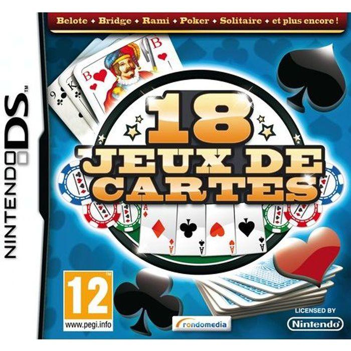 18 JEUX DE CARTES / Jeu console DS