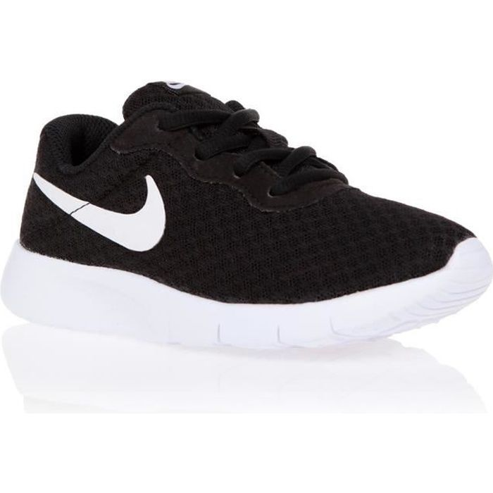 nike baskets tanjun chaussures enfant noir achat vente. Black Bedroom Furniture Sets. Home Design Ideas