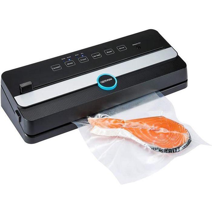 Machine sous Vide Automatique, GERYON E2901-M Appareil de Mise sous Vide Alimentaire avec Coupeur LED Indicateur Scelleuse Emballeus