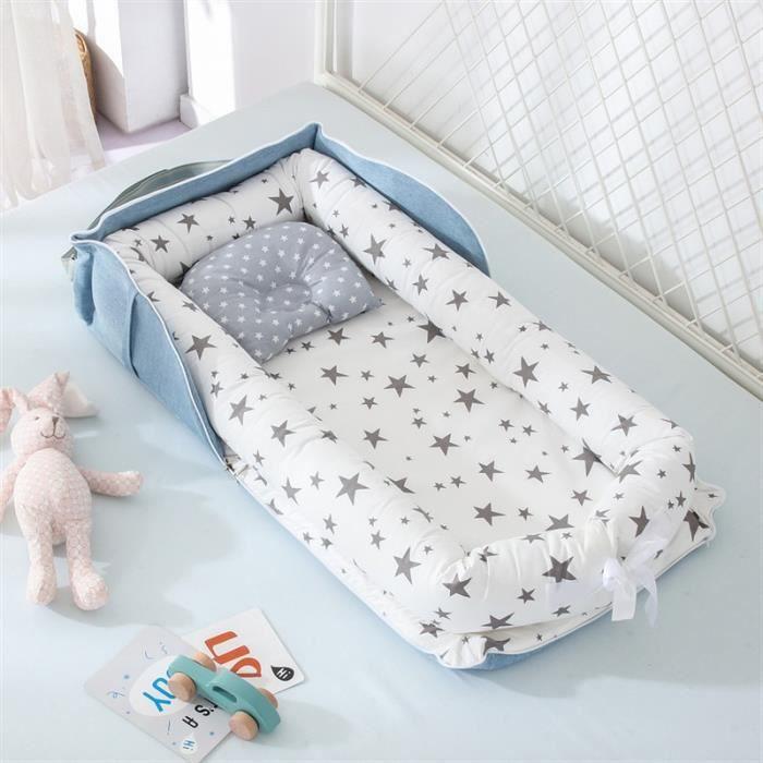 Lit nid d'enfant Portable pour garçons filles - Lit de voyage pour bébés, berceau en coton pour nouveau-né