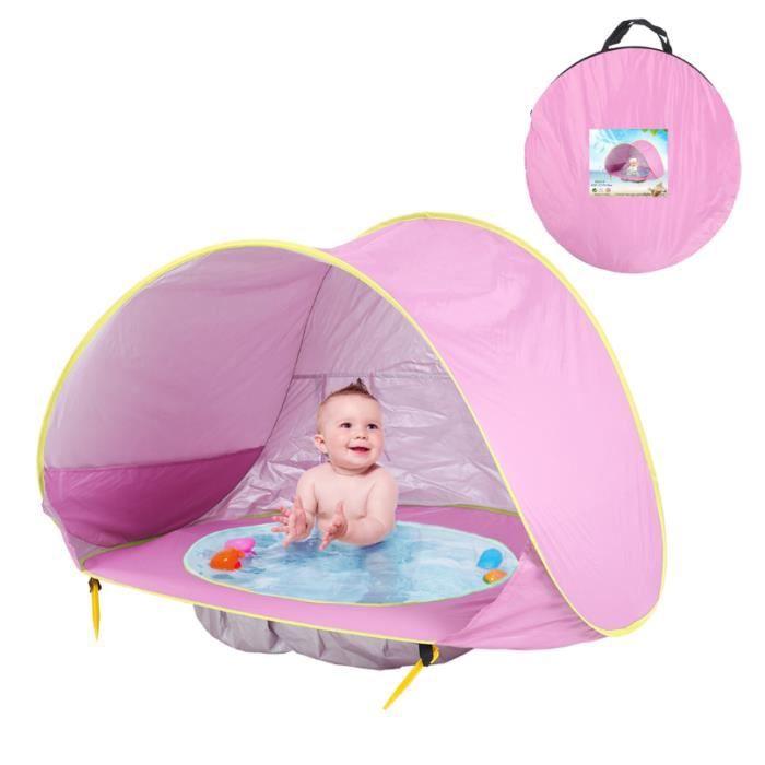 Tente d'activité Intégré Tente de Jeu Bébé Pliable Piscine Para-soleil Ombre Bébé pour Plage Extérieur Jardin Cadeau Fille Garcon, R