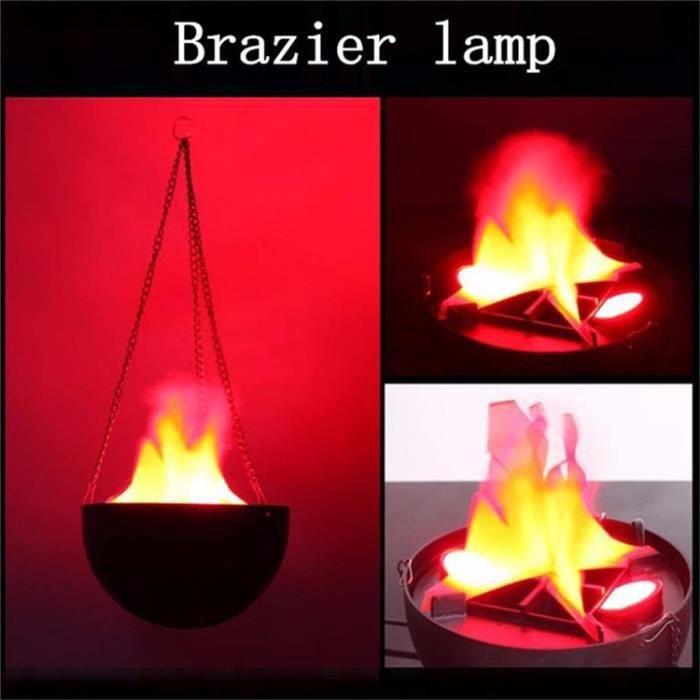 LED suspendue fausse flamme lampe torche lumière feu pot bol festival décor de fête,avec Longe