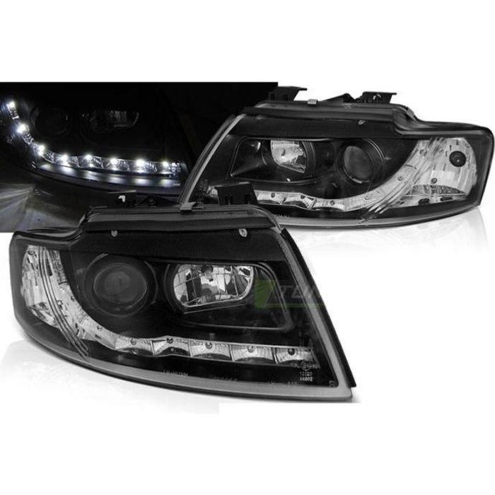 Paire de feux phares Audi A4 B6 Cabriolet 02-06 Daylight led Noir