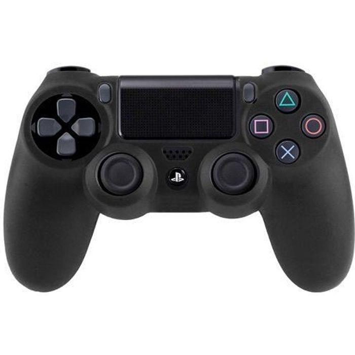 Housse, etuis, coque pour manette PS4 Noir