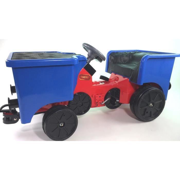 Camion à charbon à pédales ajouté pour Little Play Train Engine - Bleu