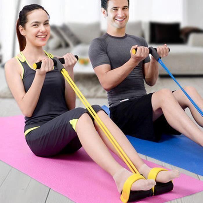 Bandes Corde Élastiques Résistance d'Exercices pour Musculation Yoga Fitness (Bleu)