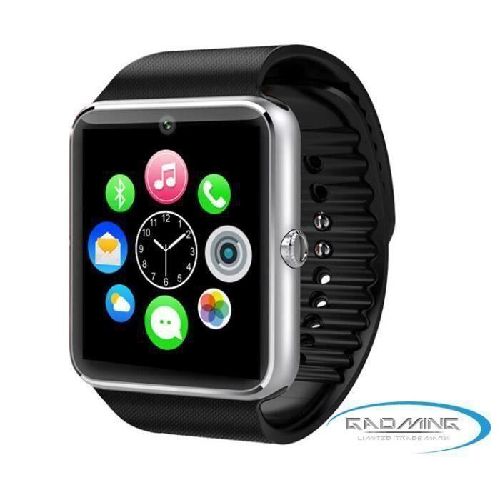 Montre connectée GT08 haut de gamme noire pour Apple iPhone 6 Plus A61527