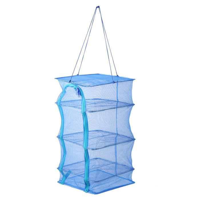 AYNEFY filet de séchage pliable Sac de transport de stockage de nourriture sèche de cage anti-mouche de filet de support de