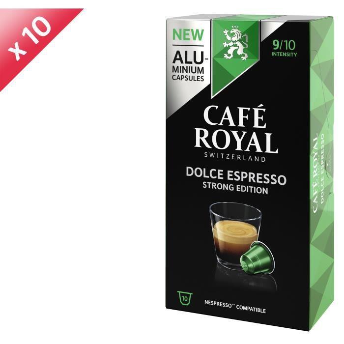 [LOT DE 10] CAFE ROYAL Café Dolce Espresso - Compatible Nespresso aluminium - 10 capsules