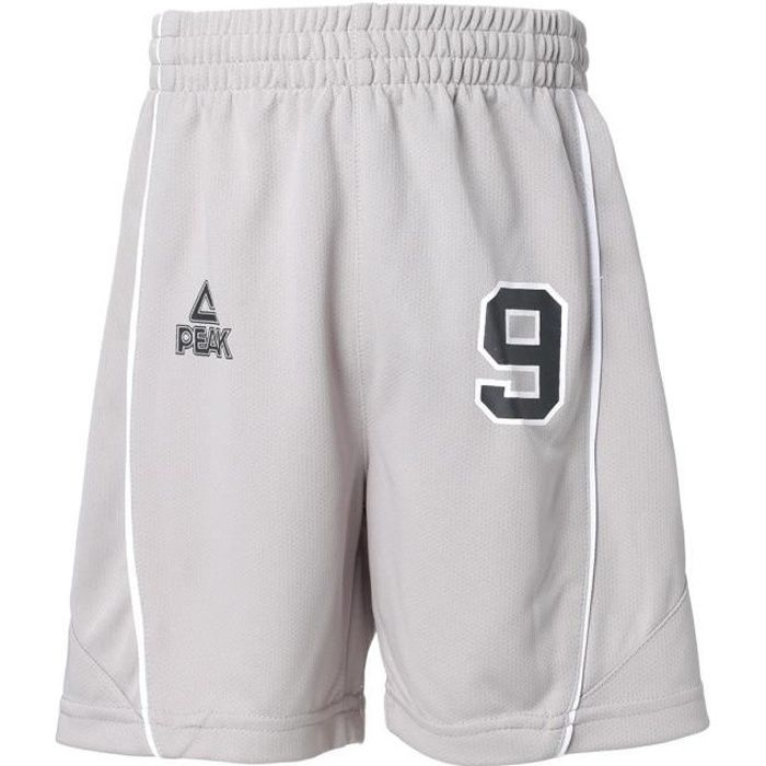 PEAK Short de Basket Tony Parker - Enfant - Gris