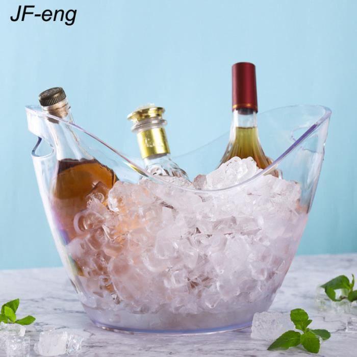 JF-eng 8L Seau à Glace pour Champagne , Transparent , Rafraîchisseur , Tenir au Frais,pour Champagne , vin , Boissons , bière