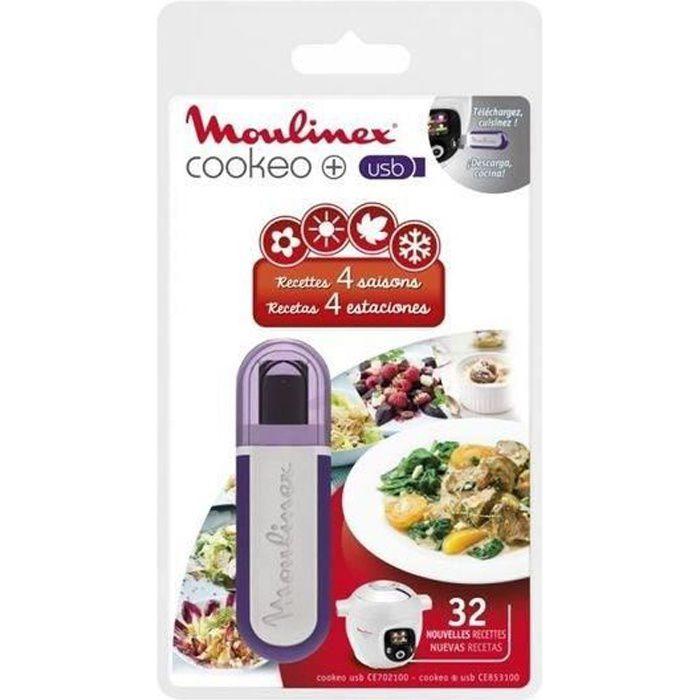 Clé USB pour Cookeo Moulinex - 25 nouvelles recettes Méditerranéennes - MOULINEX XA600011