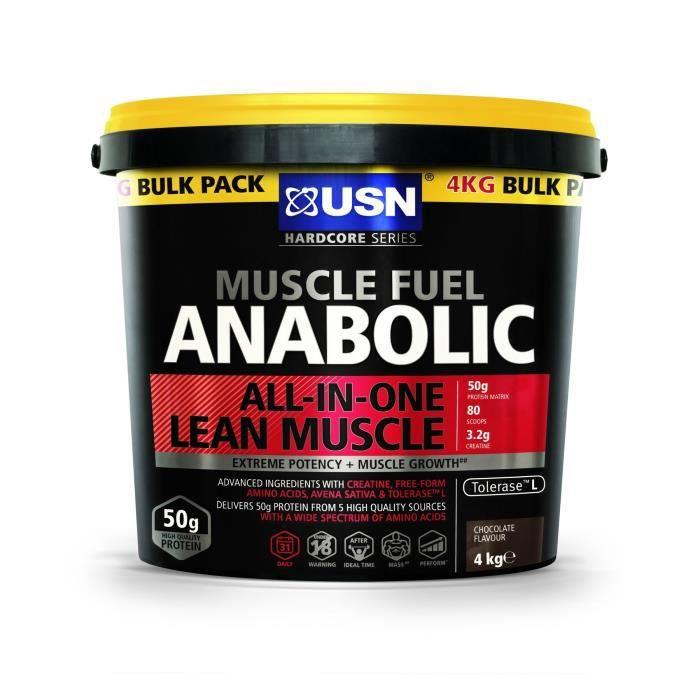 USN Muscle Fuel Anabolic 4 kg Chocolat Prise de Masse