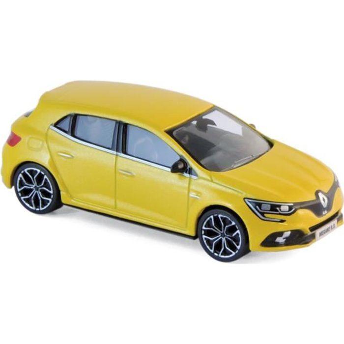 Miniatures montées - Renault Mégane RS jaune Sirius - échelle 3 inch 2017 Norev