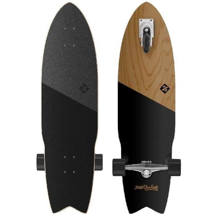 Skate Street Surfing Attaque requin 36 & quot Autopropulsé Longboard Koa Noir