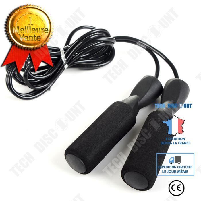 TD® Corde à sauter cordes à sauter enfants Sport exercice vitesse gymnase maison Fitness Équipement de fitness- Black