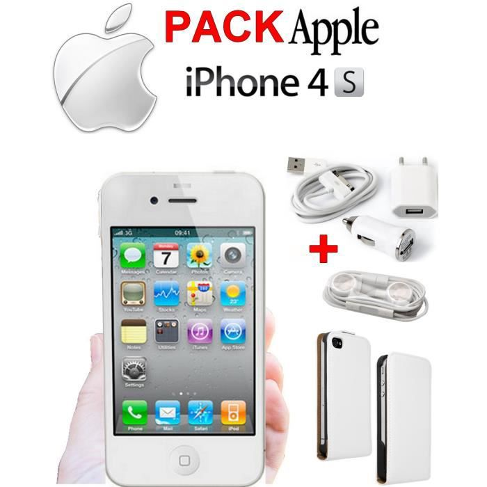 iphone 4s 16go blanc neuf achat vente iphone 4s 16go. Black Bedroom Furniture Sets. Home Design Ideas