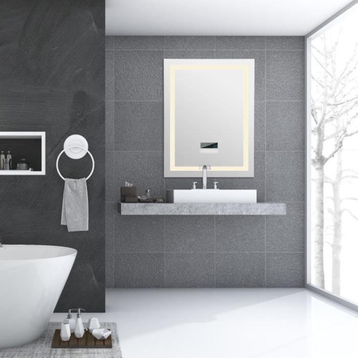 Miroir salle de bain connecte