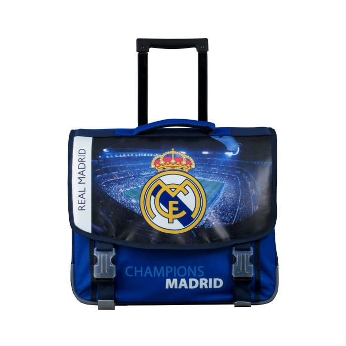 8ad7b7754f Cartable à roulettes Real Madrid 41 CM Bleu Junior Bleu - Achat ...