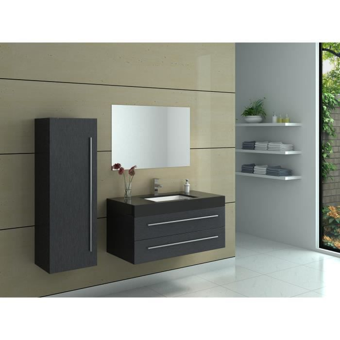 interougehome meuble de salle de bain en bois avec simple vasque coloris noir meuble de. Black Bedroom Furniture Sets. Home Design Ideas