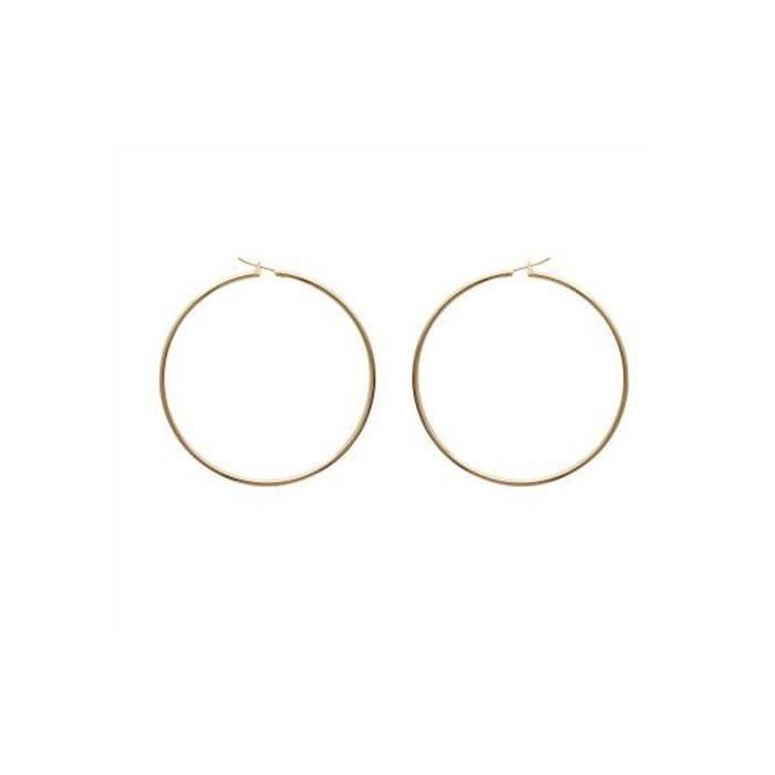 double perle boucle d'oreille
