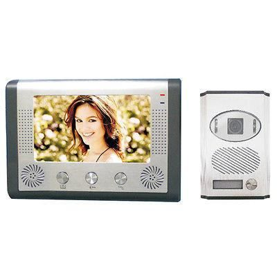 interphone portier video videophone couleur nocturne lcd 7. Black Bedroom Furniture Sets. Home Design Ideas