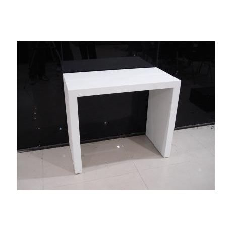Console extensible blanche mate anti rayure achat vente table manger c - Console qui se transforme en table ...