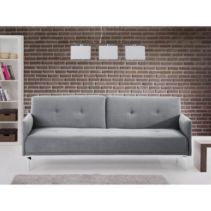 canap convertible canap lit en tissu gris vert lucan achat vente canap sofa divan. Black Bedroom Furniture Sets. Home Design Ideas