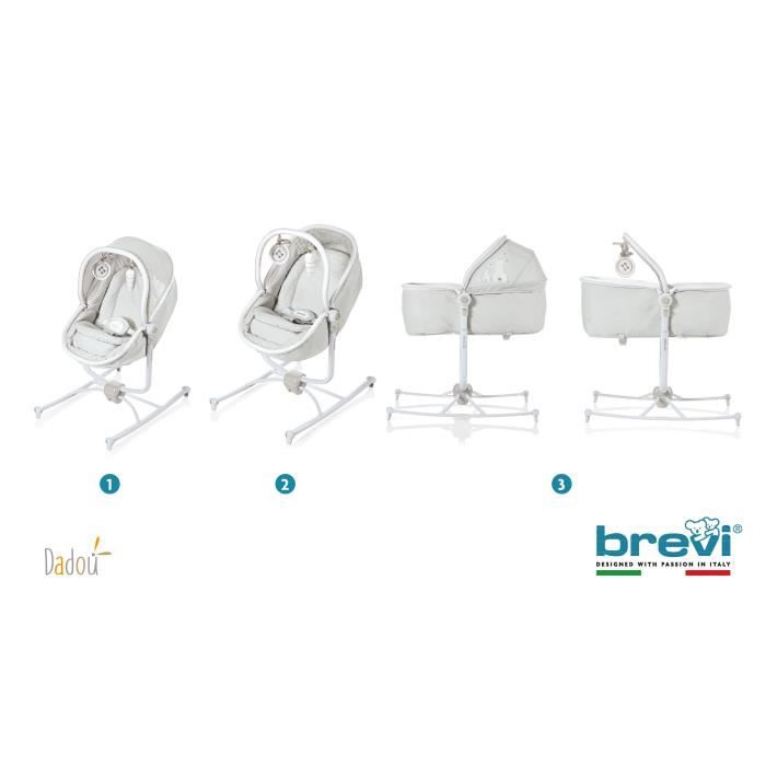 BREVI Transat 2 en 1 Dadou - Lapinou Perle