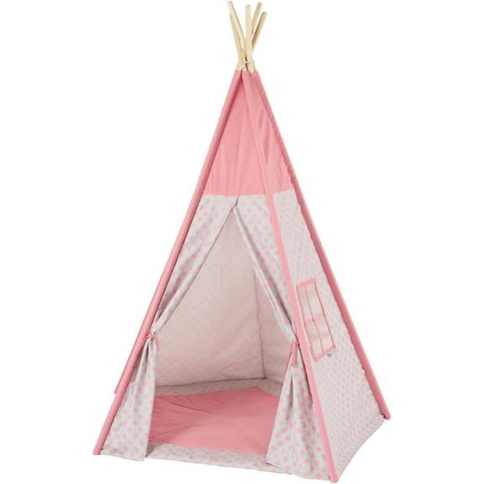 howa tente enfant tipi rose avec tapis 8501 achat vente tente tunnel d 39 activit cdiscount. Black Bedroom Furniture Sets. Home Design Ideas