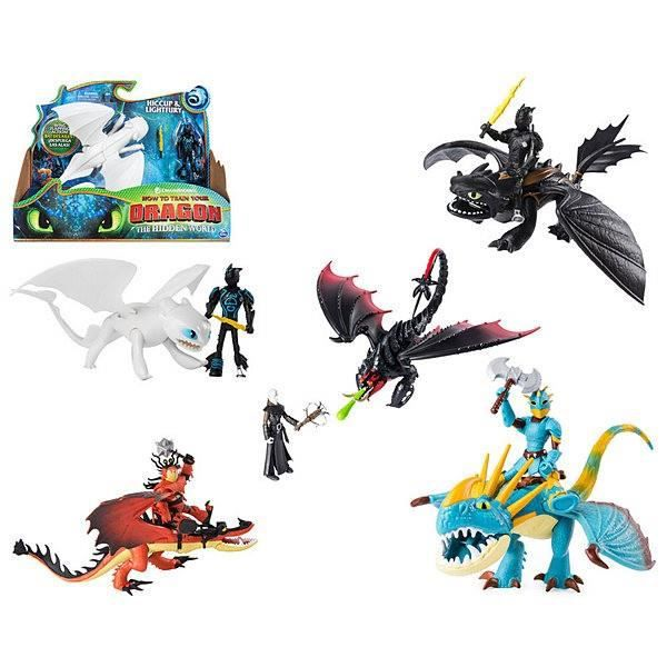 How to Train Your Dragon 3 ~ édenté Nuit Fury Figurine ~ Spin Master
