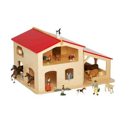 ferme en bois schleich. Black Bedroom Furniture Sets. Home Design Ideas