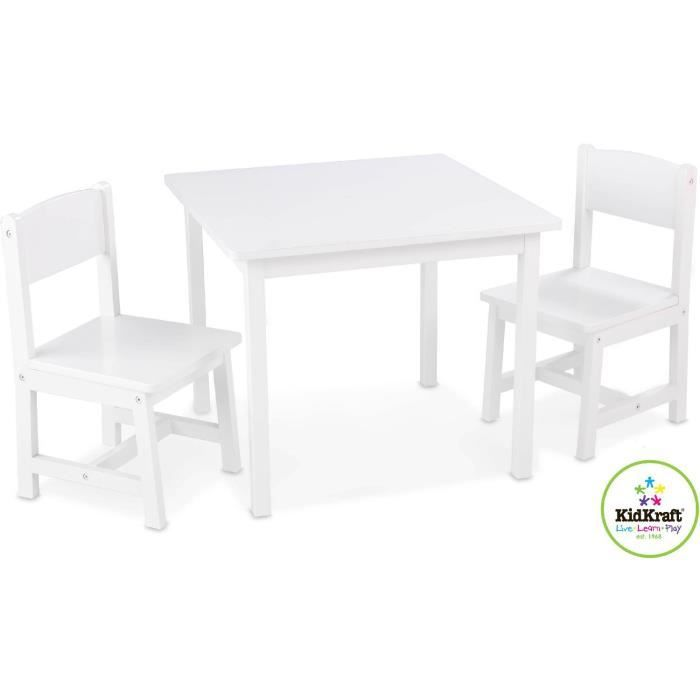 salon table et chaises pour enfant en bois blanc achat vente table et chaise 0706943212011. Black Bedroom Furniture Sets. Home Design Ideas