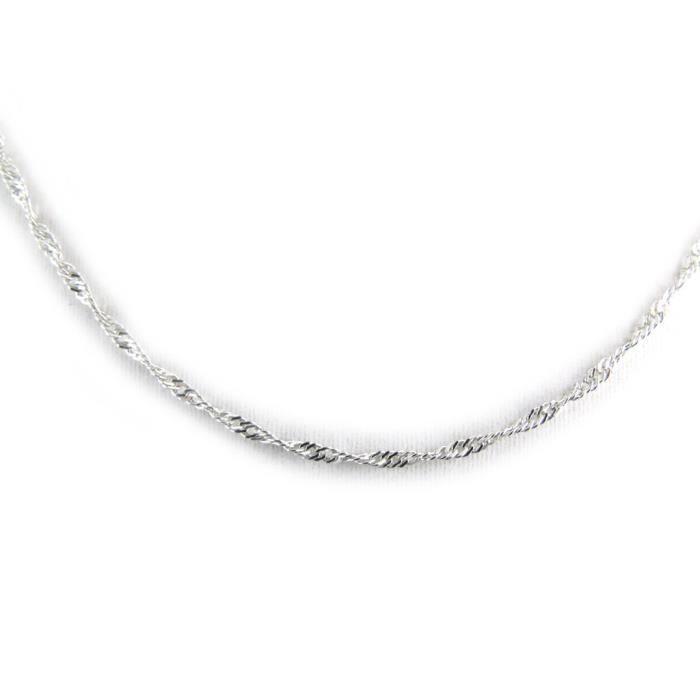 collier argent femme 40 cm