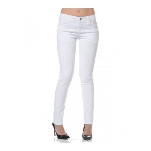 pantalon slim fizon wn femme blanc blanc achat vente pantalon cdiscount. Black Bedroom Furniture Sets. Home Design Ideas