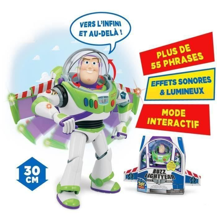 toy story robot interactif et articul buzz l 39 eclair 30cms. Black Bedroom Furniture Sets. Home Design Ideas