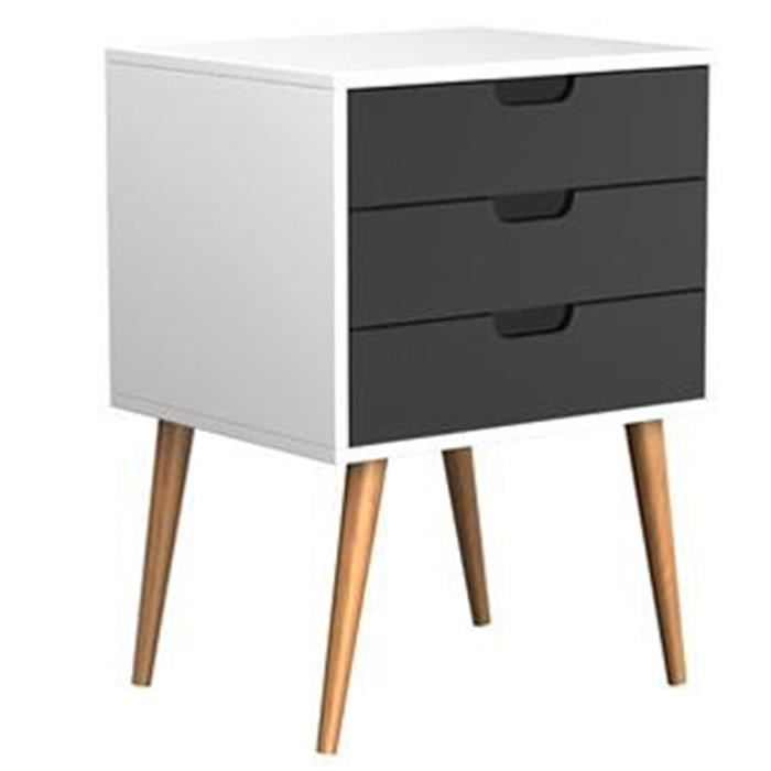 commode 3 tiroirs l 40 x p 40 x h 60 cm achat vente commode de chambre commode 3 tiroirs. Black Bedroom Furniture Sets. Home Design Ideas