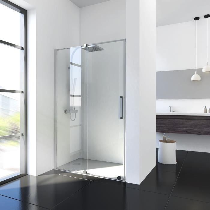 Porte de niche Porte coulissante 135 x 195 cm Porte de douche /écran de douche Douche Verre 8 mm ESG verre de s/écurit/é