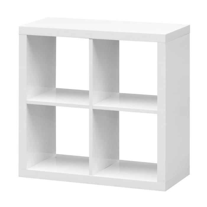 etag re cube szene 4 blanc achat vente meuble tag re. Black Bedroom Furniture Sets. Home Design Ideas