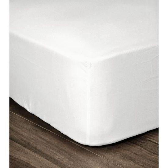 Beige Bonnet 35cm LOVELY HOME Drap Housse 100/% Coton 140x190cm