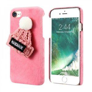 coque iphone xr classe pink noel chapeau moelle