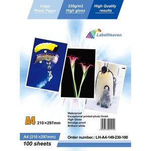 PAPIER PHOTO LabelOcean - 100 Feuilles Papier Photo A4 Premium