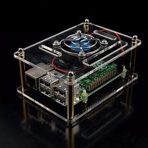 Boitier Coque Transparent Acrylique Raspberry Pi 3 Modèle B PI 3//2 Plus