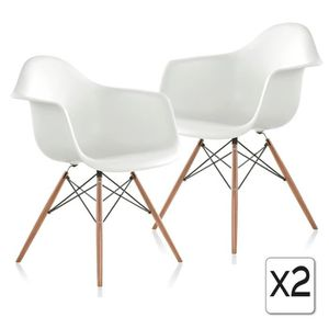 FAUTEUIL 2 x Fauteuil Design Retro Inspiration Eames DAW Pi