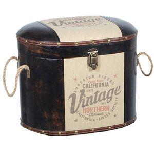COFFRE - MALLE Malle Siege et rangement Vintage 41 cm