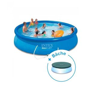 PISCINE Pack Piscine autoportante Intex Easy Set 4,57 x 0,
