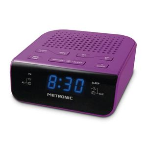 Radio réveil MET 477012 Radio réveil Pop Purple