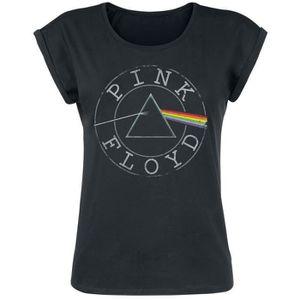 T-SHIRT Pink Floyd Logo Circle T-Shirt Manches courtes noi