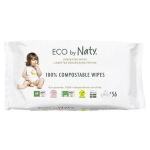 Naty 12 Packs de Lingettes Douces Ecologiques Toilette